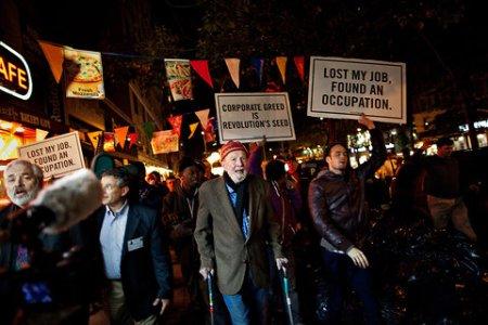 Λίγα χρόνια πριν στην πρώτη γραμμή διαδήλωσης του Occupy movement