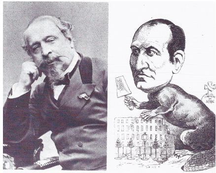 Ο Ναπολέων ΙΙΙ και μια γελοιογραφία του βαρόνου Haussmann
